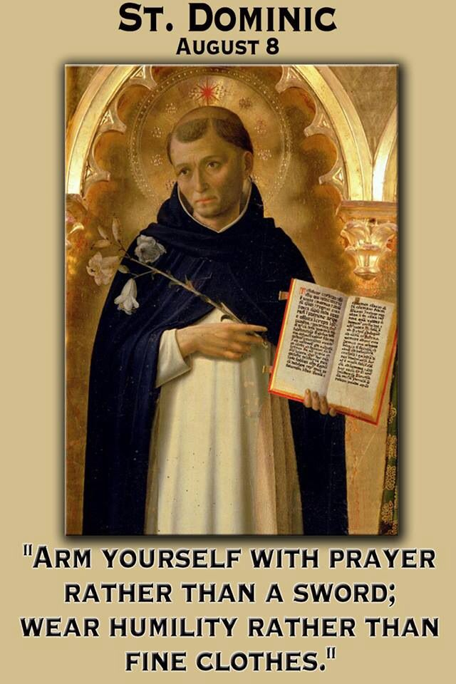 saint dominic (the image of st dominic is from a stole buried with st albert the great, preserved in cologne, germany) print.