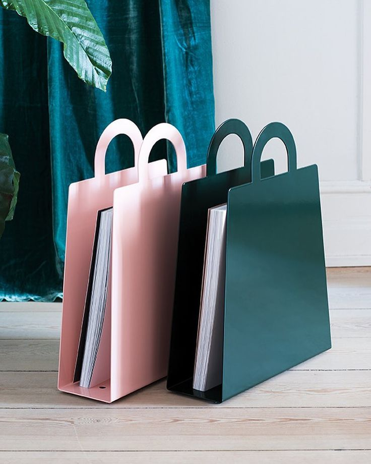 Magbag magazine storage in pink and racing green
