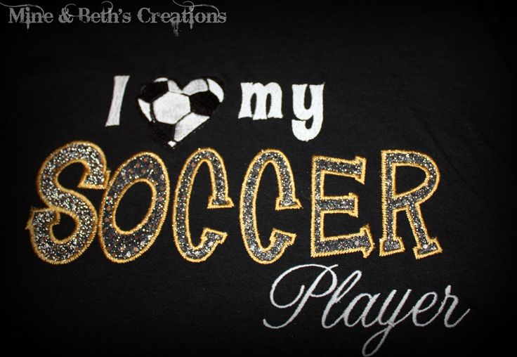 soccer moms sayings and photos | heart) my soccer player - I love my soccer player (custom shirt)