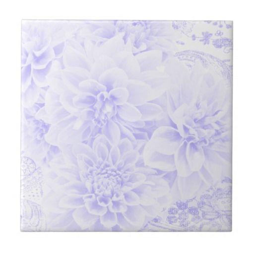 Dahlias In Blue Tiles