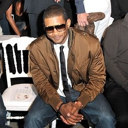 Usher tie with jeans