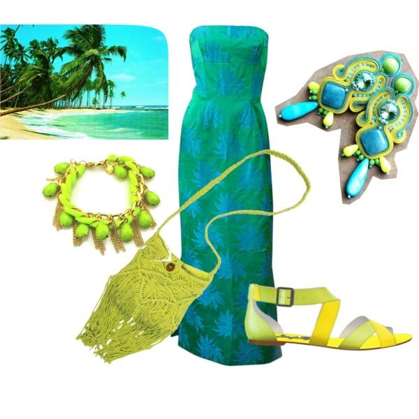 beach party by galeriamagia on Polyvore featuring moda, Shoes of Prey and Billabong