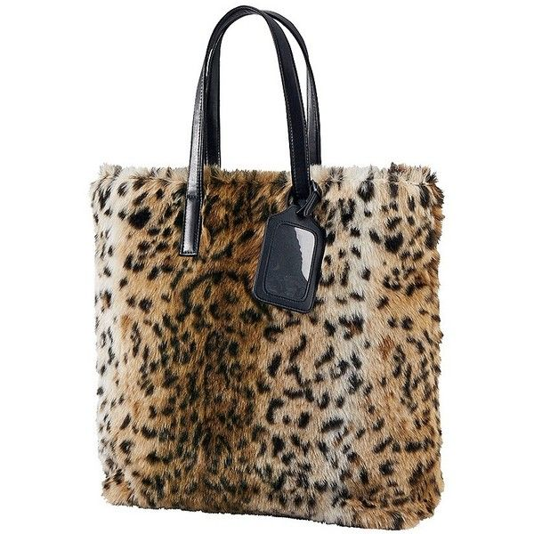 Carine Faux Shearling Tote Bag (51 CAD) ❤ liked on Polyvore featuring bags, handbags, tote bags, uniqlo, handbags tote bags, tote bag purse, brown tote handbags and tote handbags
