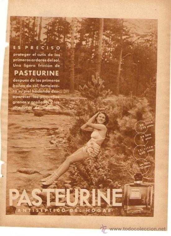 RECORTE PUBLICIDAD.AÑO 1936.PASTEURINE.ANTISEPTICO DEL HOGAR.