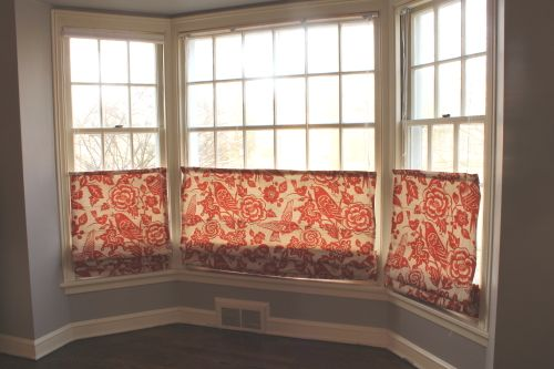 DIY Pull up/down Roman Shades, (Instructions and links) [BluetandClover.com]