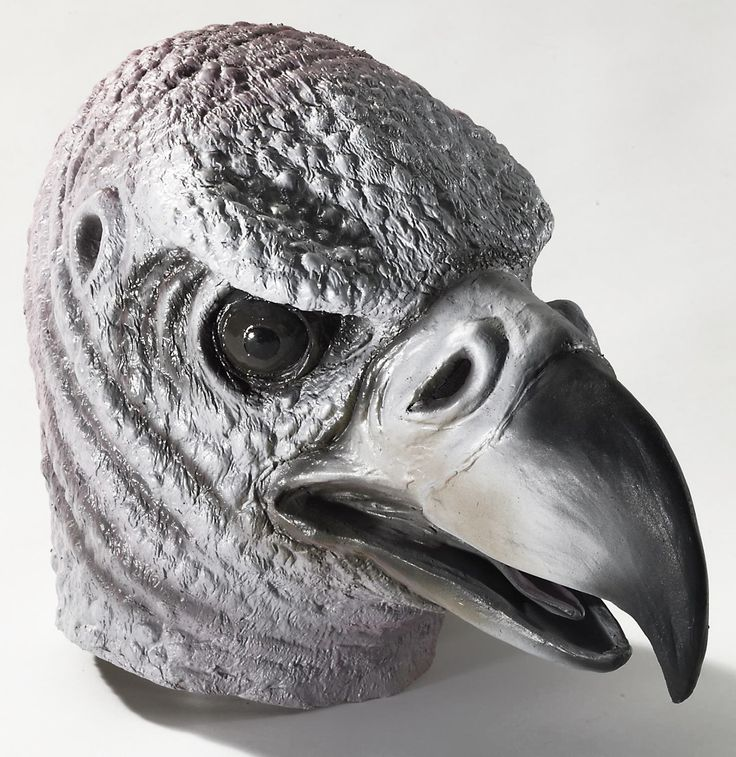 Deluxe Latex Animal Mask Adult: Vulture