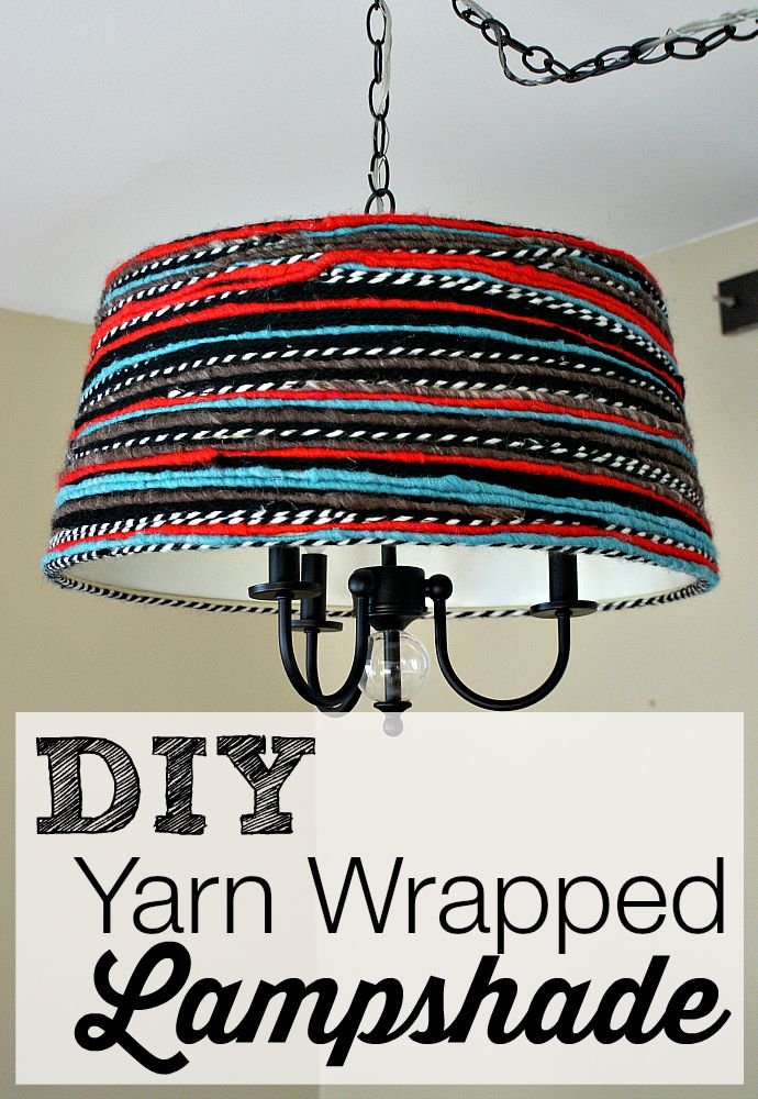 Best DIY Lights Images On Pinterest Lamp Shade Makeover - Diy cloud like yarn lampshade