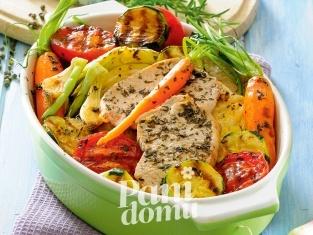 Schab zapiekany z warzywami - przepis