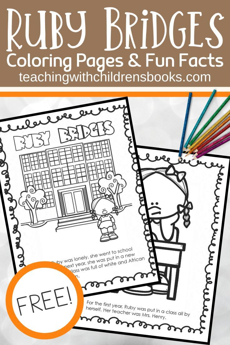 Free Printable Ruby Bridges Coloring Page Packet Craft