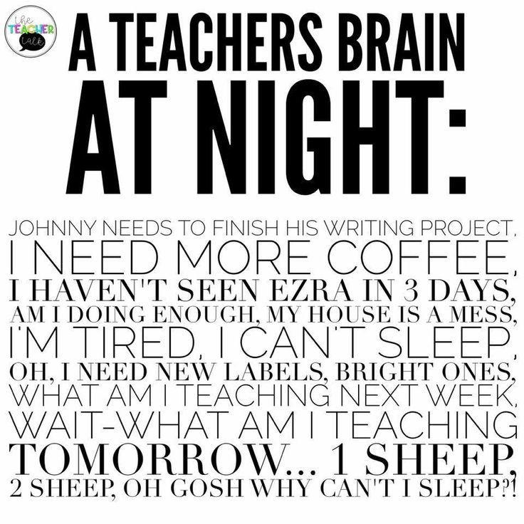 Funny Teacher Quotes: Teachers Brain At Night {pacifickid.net/}