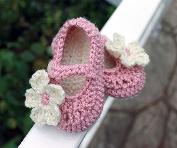 Baby Booties Mary Jane Crochet