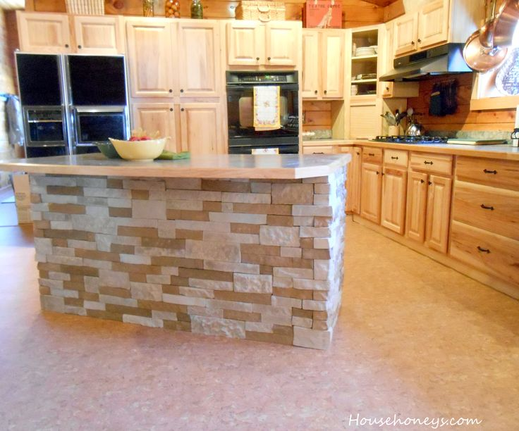 Kitchen Island Backsplash Ideas Part - 16: #AirStone Kitchen Island In Autumn Mountain Blend. #kitchenideas  #homeimprovement #diy