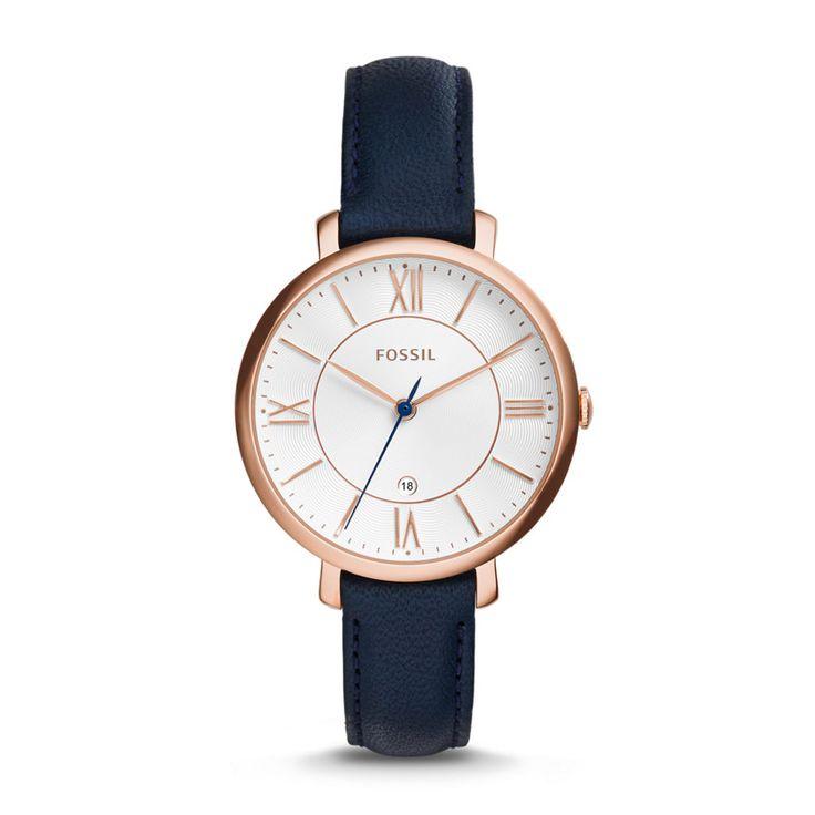 Damenuhr Jacqueline - Leder - Blau ES3843 |FOSSIL®
