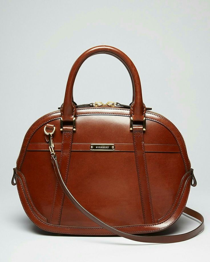 Burberry. Leather bowling bag.