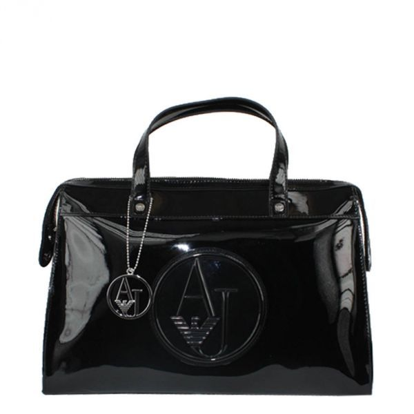 Sac Armani Jeans Vernis - Borsa Bauletto / Noir