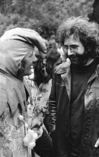 Seva co-founder Wavy Gravy and one of Seva's most dedicated supporters Jerry Garcia of the Grateful Dead.