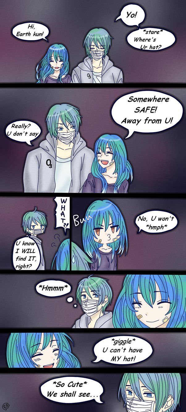 Earth kun and Earth chan being silly Earth chan belongs to me Earth kun belongs to my dear friend,Nandya (www.facebook.com/nandya05)... go check her out, she is a GREA...