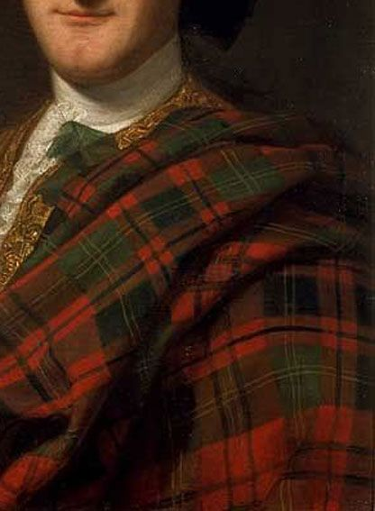 Detail Painting of John Drummond a Jacobite soldier in 1739. #tartan #inspiration