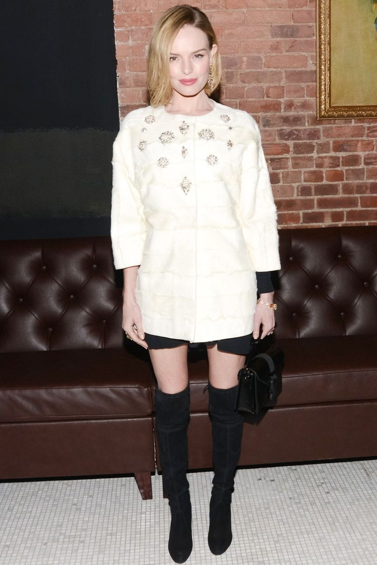 Kate Bosworth in J. Mendel coat - Still Alice premiere after-party, New York – January 13 2015