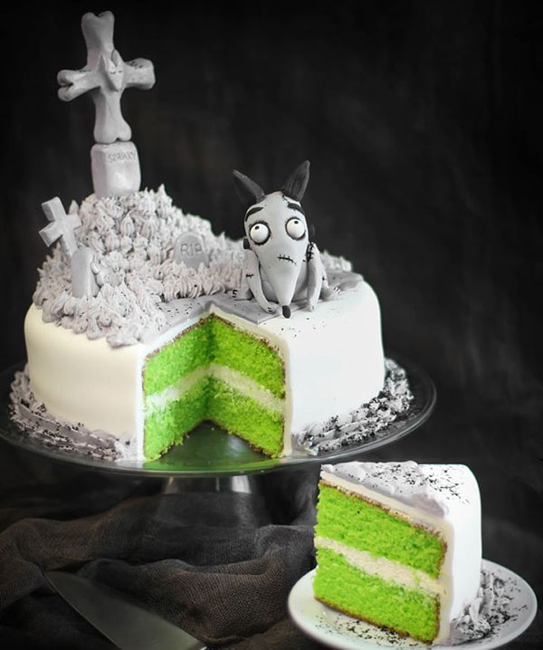 "Frankenweenie ""Sparky"" Cake by Heather Baird ::: 20 Creepy, Spooky and Scary Halloween Cakes"