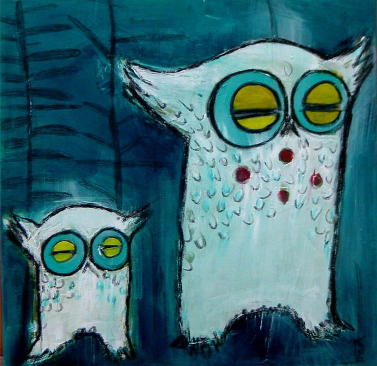 """GUFI"" pittura acrilico su tela  50x50"