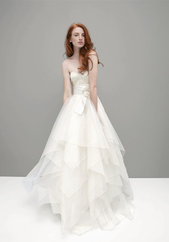 A Line Strapless Floor Length Attached Silk Organza Alencon Lace Wedding Dress Style Bella Stuff Pinterest Dresses