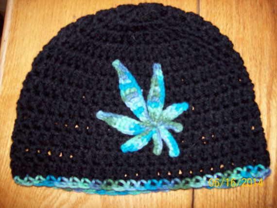 pattern only crochet pot leaf motif by JavaWorksUnlimited on Etsy
