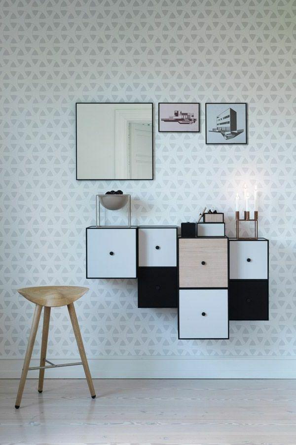 Ausgefallene Tapeten F?r Zuhause : Kreative Wandgestaltung Flur Wohnidee  Flur Tapete Flur Gestalten | Wohnen | Pinterest
