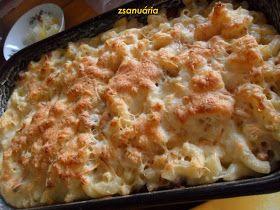 """Ez az étel az angolszász Mac and cheese egyik variációja, ennek a receptjét hónapokkal ezelőtt láttam vagy az """" Ahogy eszik, úgy puff..."""