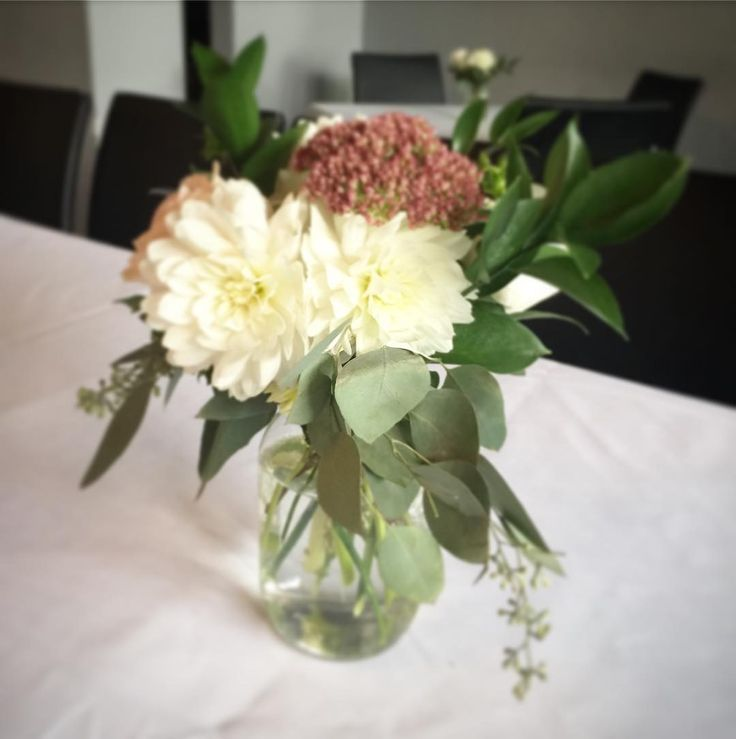 Our small mason jar arrangement, perfect to compliment our large mason jar.