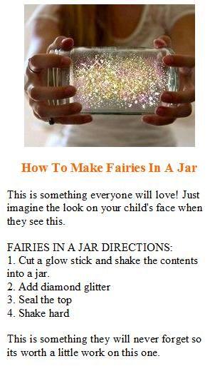 How to make fairies in a jar.