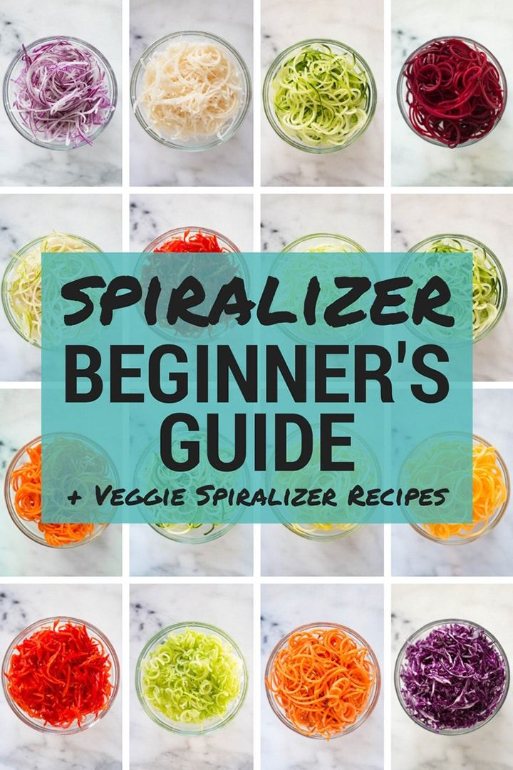 Spiralizer Beginner's Guide + Veggie Spiralizer Recipes | From which vegetables can be spiralized to what vegetables make the best pasta, this post is your Spiralizer Beginner's Guide to understand all things Spiralizer + grab tons of easy veggie spiralizer recipes! | A Sweet Pea Chef via @laceybaier