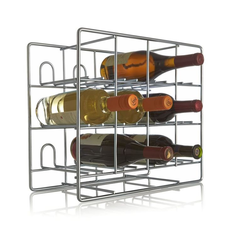 Charming Wine Rack Stacks Up Sleek And Functional In Galvanized Steel, Holding Up To  12 Wine Bottles. Open Storage Racks Up Contemporary Style On The Counter Or  ...