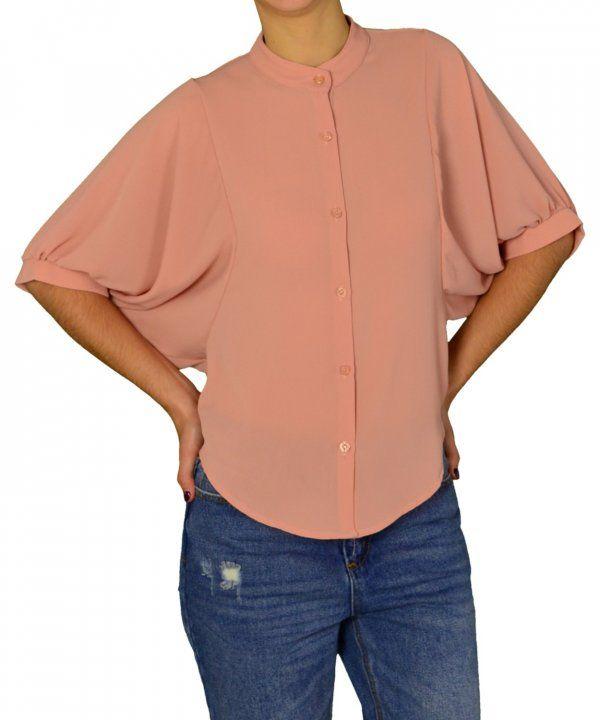 Γυναικείο ασσύμετρο κοντό πουκάμισο Lipsy σομόν 2170503 #γυναικείαπουκάμισα #ρούχα #στυλάτα #fashion #μόδα #γυναίκες #βραδυνά #μεταξωτά