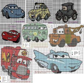 Point de croix cars 2 gratuit grilles tricots pinterest - Cars 2 gratuit ...