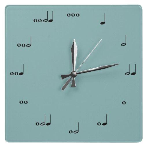 Music note clock