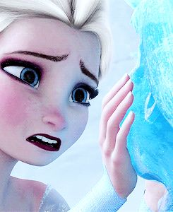 Frozen sad face. The more I watch her lip quiver the sadder I am.