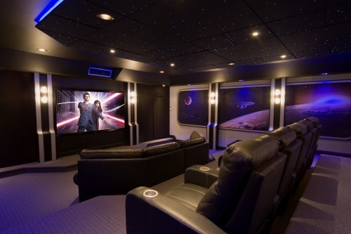 Home theatre - awesome. (plus Doctor Who is on the screen)