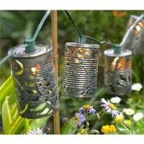 tin can lights -  this would be cool once our proche is done!