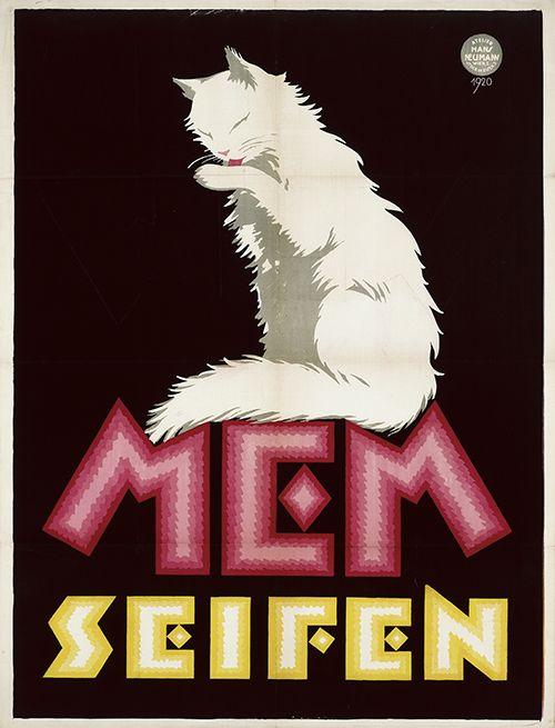 MEM Seifen (Soap), M.E. Mayer, Wien. Poster design Atelier Hans Neumann, Austria (1924).
