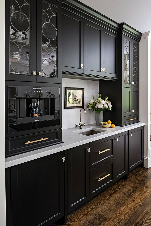 Benjamin Moore Onyx Black Matte Finish Cabinet Paint Color