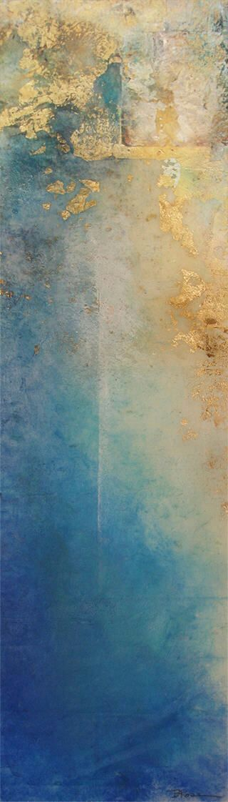 """""""Liminal Moment by Bobbette Rose – Encaustic Monotype on Paper."""