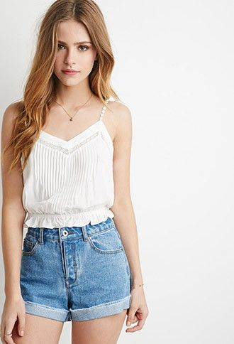Crocheted Cami Crop Top | Forever 21 - 2000116446