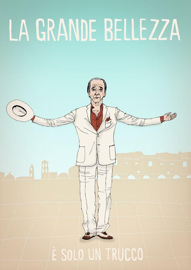 Made by Marianne Lock / Alternative Movieposter / La Grande Bellezza / Film / Poster / FOR SALE