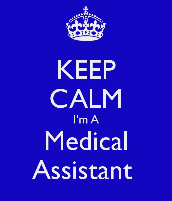 KEEP CALM I'm A Medical Assistant
