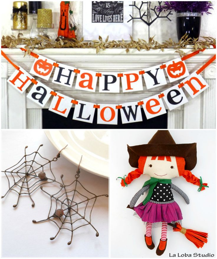 When witches go riding  And black cats are seen The moon laughs and whispers 'Tis near Halloween #halloween #halloween2015 #homedecor #halloweenjewelry #witch #halloweenkids #halloweencostume Halloween banner: https://www.etsy.com/shop/BannerCheerJR Earring: https://www.etsy.com/shop/ArtemisFantasy Witch doll: https://www.etsy.com/shop/LaLobaStudio