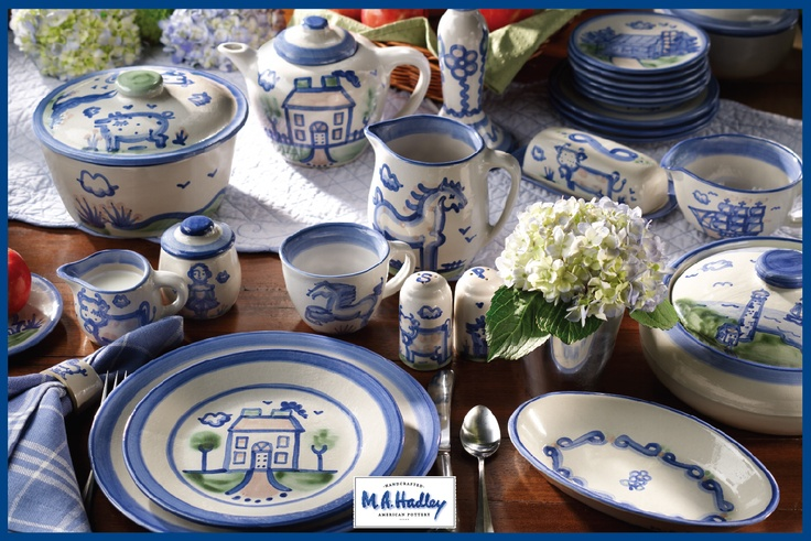 my mom has always had hadley pottery for our dishes. it is just so cheerful!