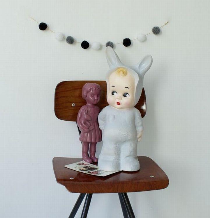 #Light #Bunny #Grey #kidsroom by Lapin & Me #vintage from www.kidsdinge.com https://www.facebook.com/pages/kidsdingecom-Origineel-speelgoed-hebbedingen-voor-hippe-kids/160122710686387?ref=hl