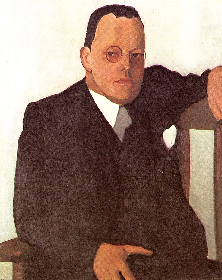 Paul Citroen: Portrait (1939) of Dutch modernist writer Menno ter Braak (1902-1940) who committed suicide shortly after the outbreak of WW2