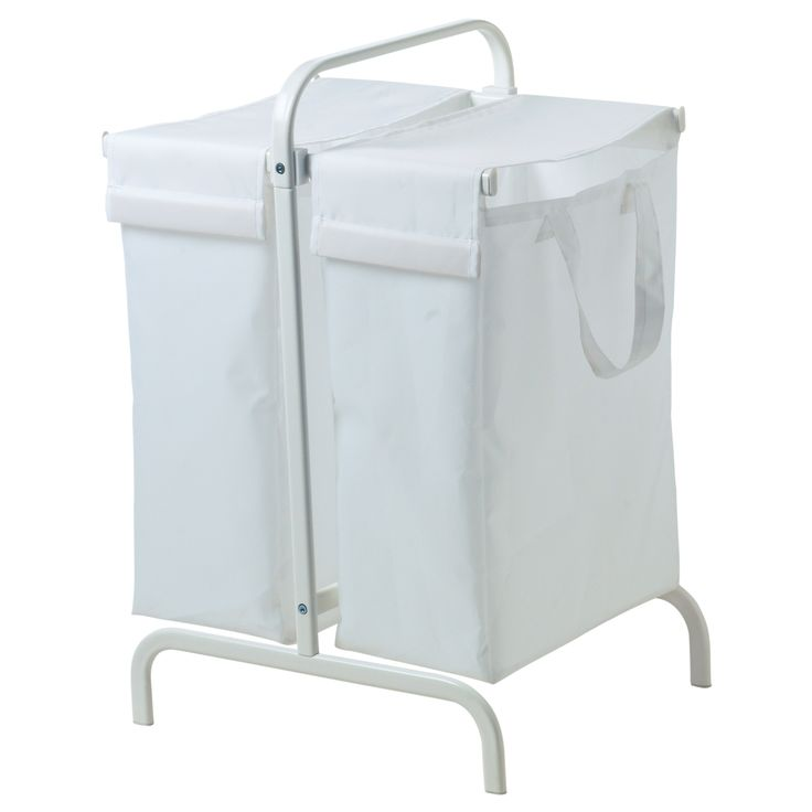 FOR WRAP AREA - clothing boxes...MULIG Laundry bag with stand - white - IKEA